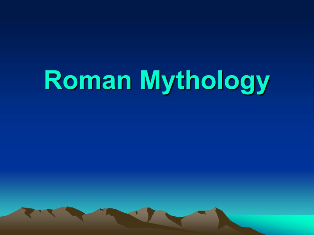 Roman gods and goddesses power point