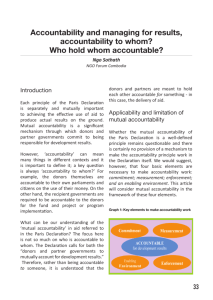 Accountability and managing for results, accountability to whom