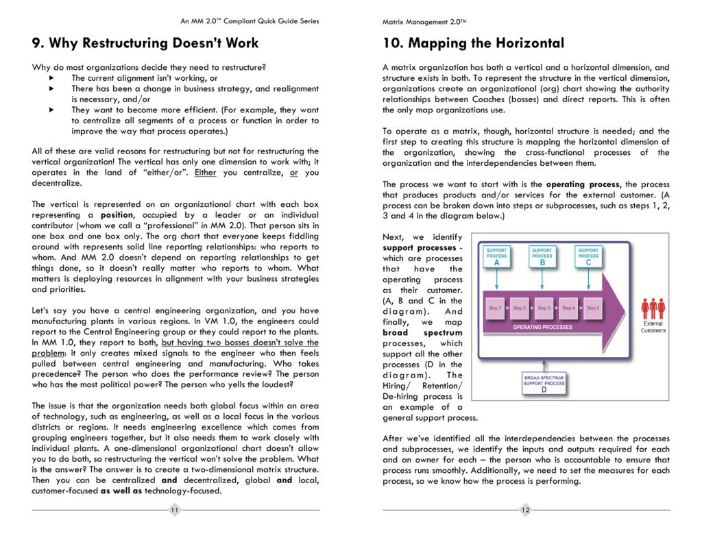 Restructuring - Matrix Management Institute