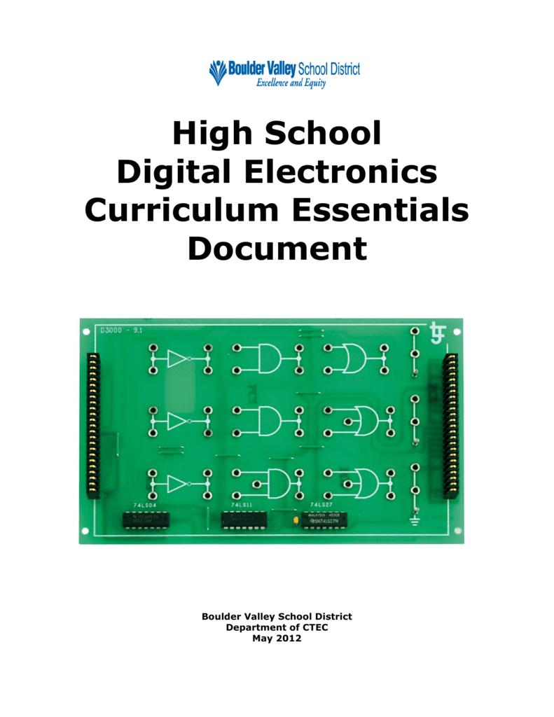Digital Electronics Boulder Valley School District Logic Family Integrated Circuit Gates Below Label The Maxterm Diagram
