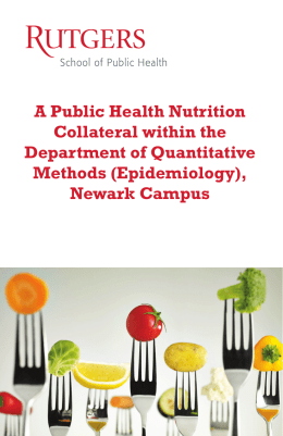 A Public Health Nutrition Collateral
