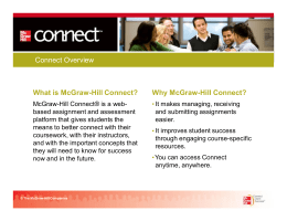 What is McGraw-Hill Connect?