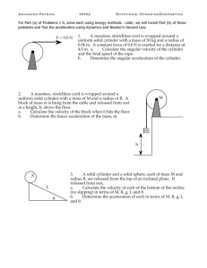 Advanced Physics HH#2 Rotational Dynamics/Energetics 1. A