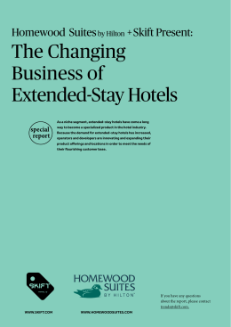 The Changing Business of Extended-Stay Hotels