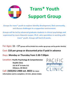 Trans Youth Support Group