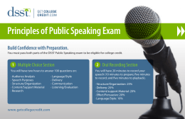 Principles of Public Speaking Exam