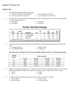 Econ Ch. 11 Practice Test