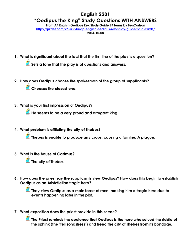 oedipus rex guided reading questions