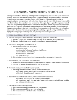 outlining your thesis The outline gives an overview of the main points of your thesis it clarifies the  structure of your thesis and helps you find the correct focus.