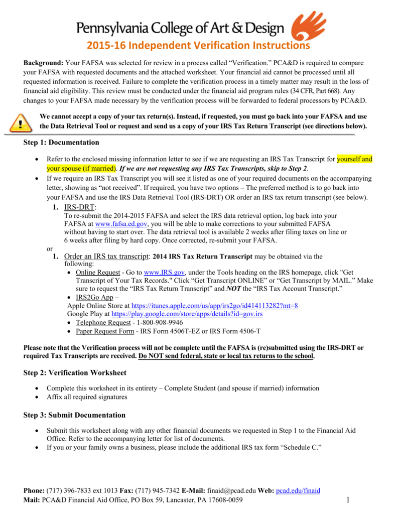 Worksheets Fafsa Worksheet verification form for independent students