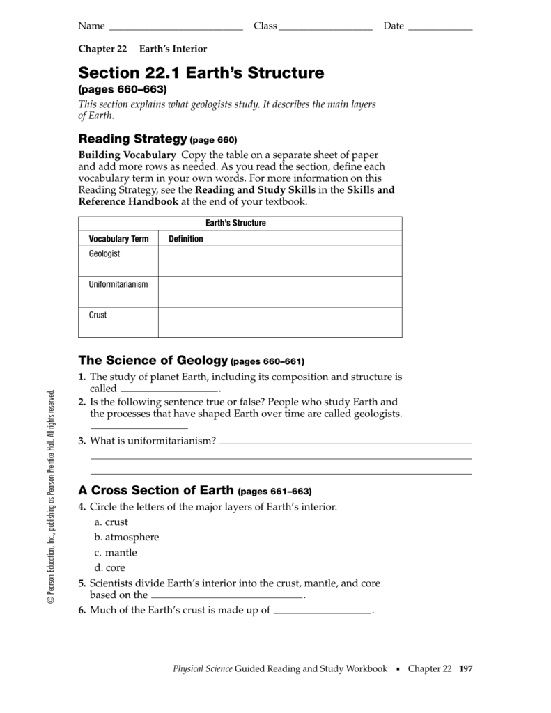 chapter 22 earth s interior worksheet answers. Black Bedroom Furniture Sets. Home Design Ideas