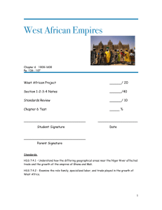 West African Empires-Word