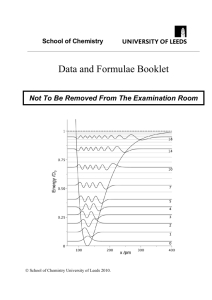 Data and Formulae Booklet - Chemistry Students