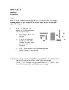 CPM Algebra 1 Chapter 5 Group Test