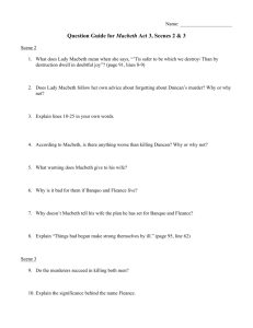 Question Guide for Macbeth Act 3, Scenes 2 & 3