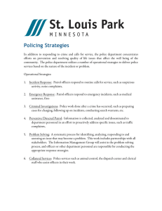 Policing Strategies - City of St. Louis Park