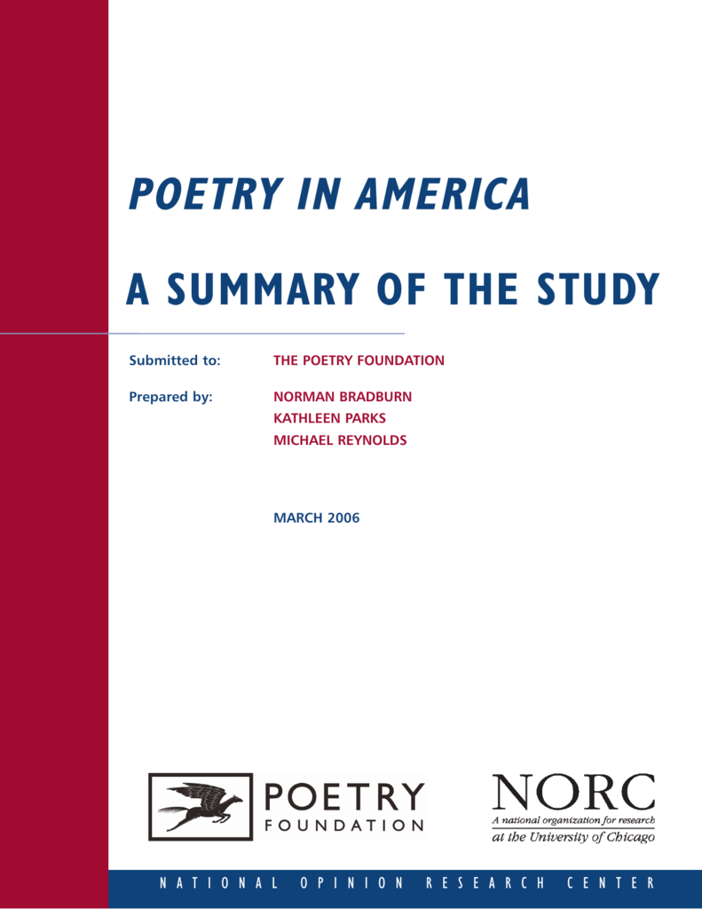 summary of the study of poetry