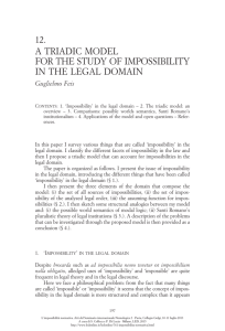 A Triadic Model for the Study of Impossibility in the