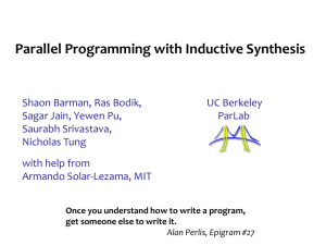 Parallel Programming with Inductive Synthesis