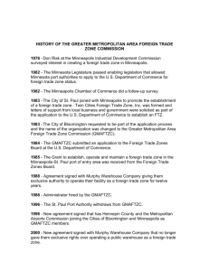 history of the greater metropolitan area foreign trade zone commission