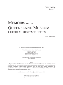 Memoirs of the Queensland Museum (ISSN 1440