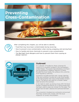 Preventing Cross-Contamination