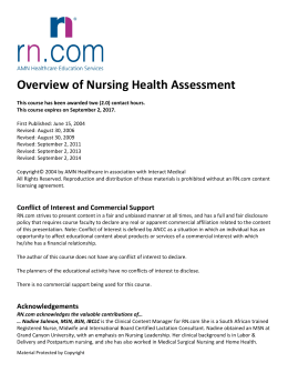 Overview of Nursing Health Assessment