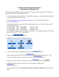 Georgia Online Assessment System Instructions for Student Use