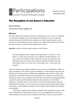 The Reception of Joe Sacco's Palestine