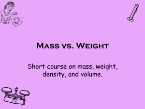 Mass vs. Weight - The Science Queen