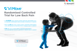 Randomised Controlled Trial for Low Back Pain • AT 10 WEEKS