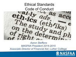 Ethical Standards Code of Conduct