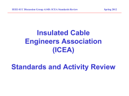 Insulated Cable Engineers Association (ICEA) Standards and