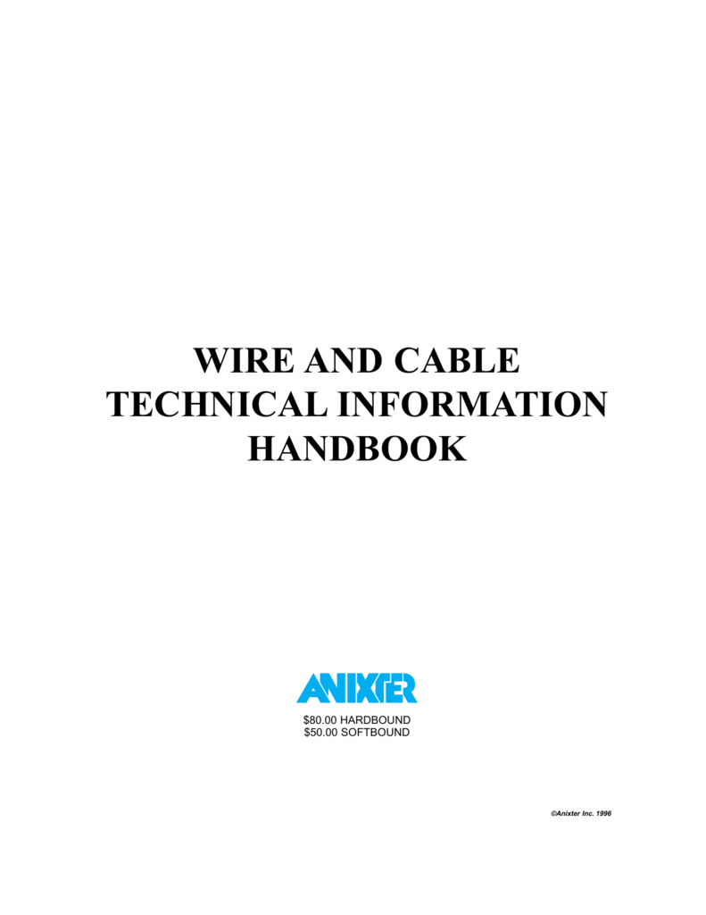 Anixter Wire & Cable Technical Information Handbook