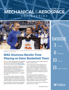 2015 Fall Newsletter - Mechanical and Aerospace Engineering