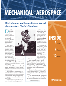 2012 Fall Newsletter - Mechanical and Aerospace Engineering