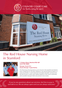 The Red House Nursing Home in Stamford