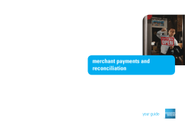 merchant payments and reconciliation