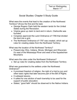 Social Studies: Chapter 5 Study Guide