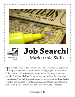 This publication is the first in our Job Search series designed to help