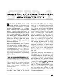 identifying your marketable skills and characteristics