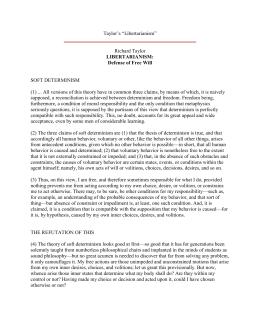 determinism lawsuit study