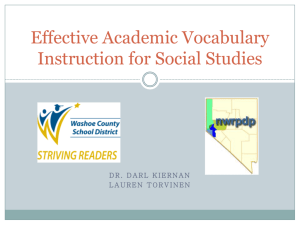 Effective Academic Vocabulary Instruction for Social Studies