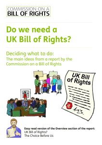 UK Bill of Rights Overview EasyRead