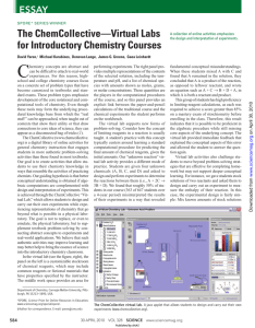 The ChemCollective—Virtual Labs for Introductory Chemistry Courses