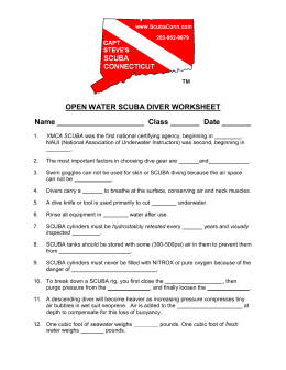 Open Water Diver Worksheet