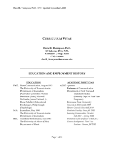 curriculum vitae education and employment history