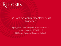 Big Data As Complementary Audit Evidence