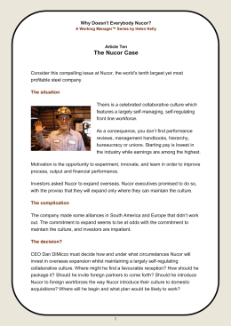 The Nucor Case - WordPress.com