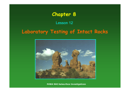 Laboratory Testing for Rocks